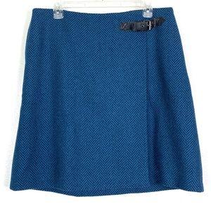 Boden Irene Kilt Skirt 100% Wool Herringbone